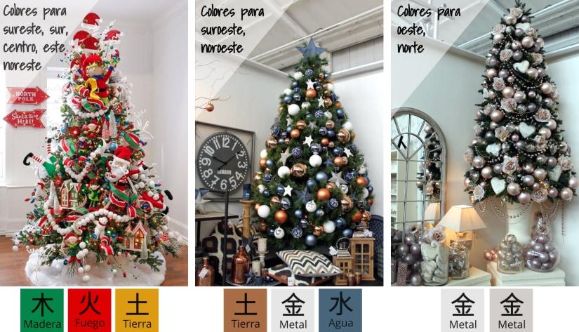 árbol de navidad - mejor ubicación feng shui - colores 2018